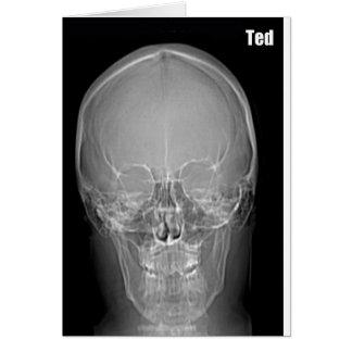 Cartão de aniversário de Ted do raio X