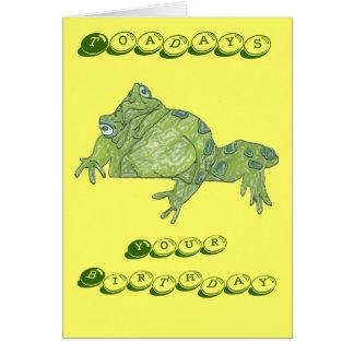 """Cartão de aniversário de """"Toadays"""" do sapo"""