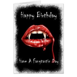 Cartão de aniversário de Vampir - tenha um dia de