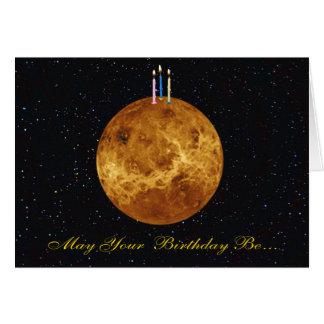 Cartão de aniversário de Venus do planeta