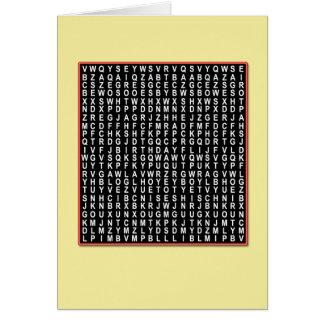 Cartão de aniversário de Wordsearch