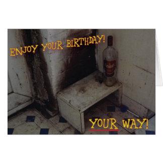 Cartão de aniversário desagradável