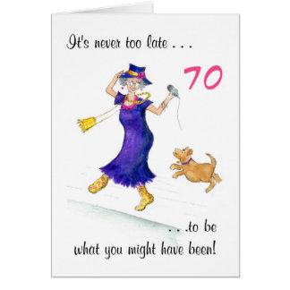 Cartão de aniversário do 70 do divertimento para