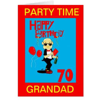 cartão de aniversário do 70 do grandad