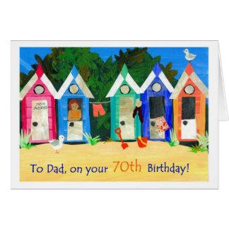 cartão de aniversário do 70 para o pai - cabanas