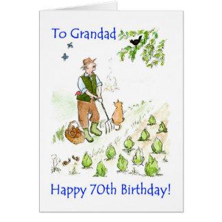 cartão de aniversário do 70 para um avô