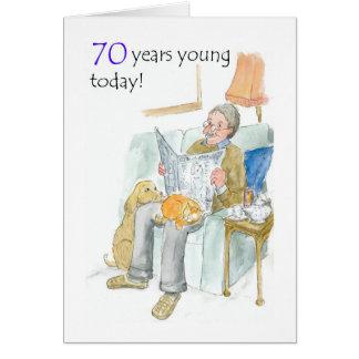 cartão de aniversário do 70 para um homem