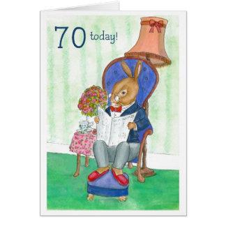 cartão de aniversário do 70 - Sr. Coelho
