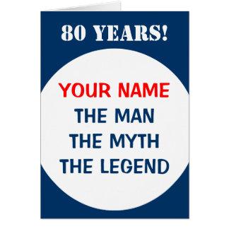 cartão de aniversário do 80 para homens | a
