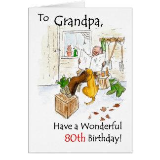 cartão de aniversário do 80 para um avô