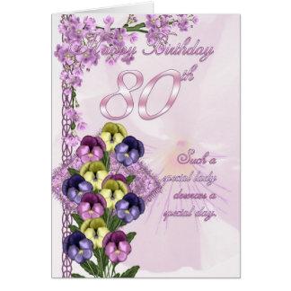 cartão de aniversário do 80 para uma senhora espec
