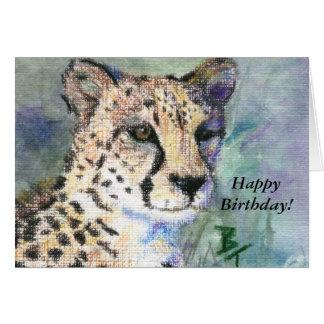 Cartão de aniversário do aceo do retrato da chita