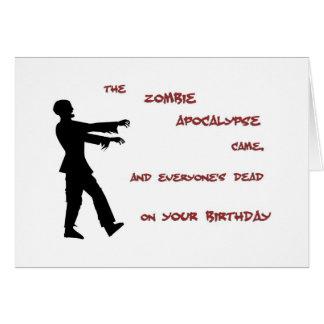 Cartão de aniversário do apocalipse do zombi