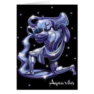 Cartão de aniversário do Aquário