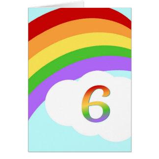 Cartão de aniversário do arco-íris para a criança