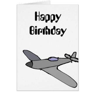 Cartão de aniversário do avião