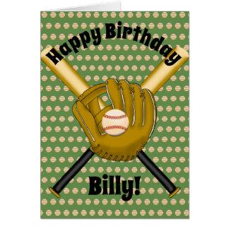 Cartão de aniversário do basebol