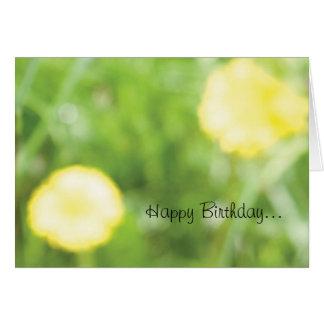 Cartão de aniversário do botão de ouro