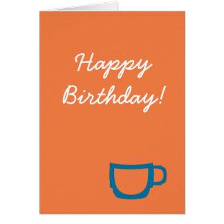 Cartão de aniversário do café