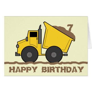 Cartão de aniversário do camião basculante