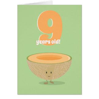 Cartão de aniversário do Cantaloupe | do