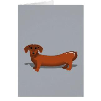 Cartão de aniversário do cão de salsicha