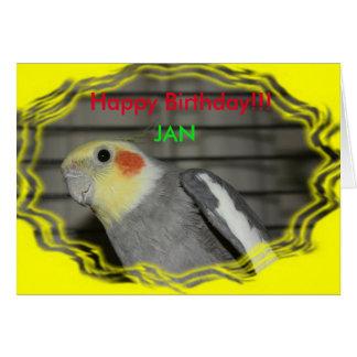 Cartão de aniversário do Cockatiel de Harley