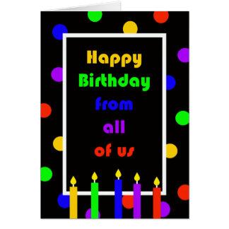 Cartão de aniversário do colega de trabalho do