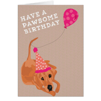 Cartão de aniversário do Coonhound de Redbone
