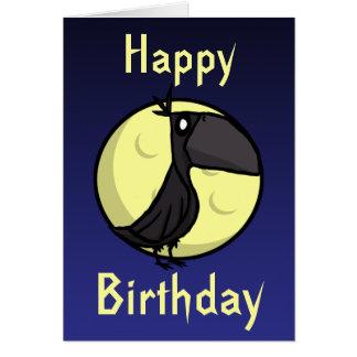 Cartão de aniversário do corvo