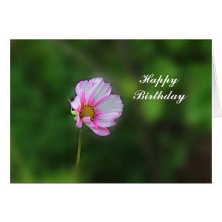 Cartão de aniversário do cosmos