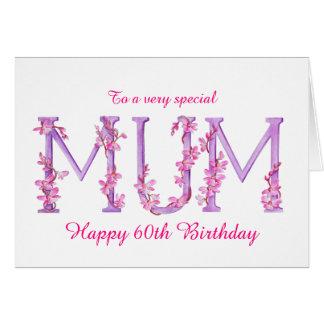 Cartão de aniversário do costume da orquídea da