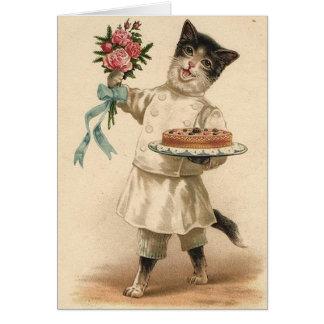 Cartão de aniversário do cozinheiro chefe/padeiro