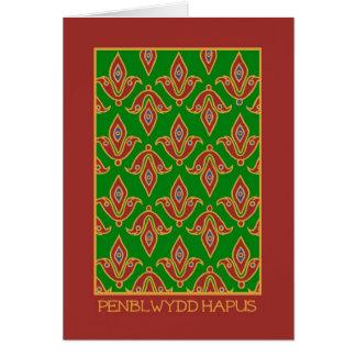 Cartão de aniversário do cumprimento de Galês: