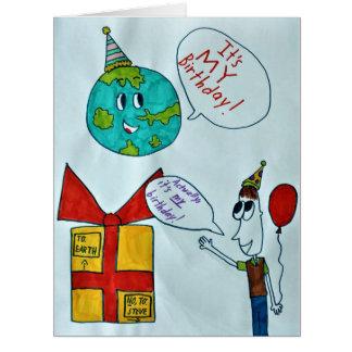 Cartão de aniversário do Dia da Terra