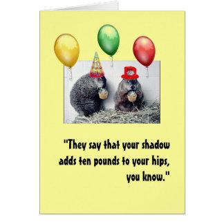 Cartão de aniversário do dia de Groundhog
