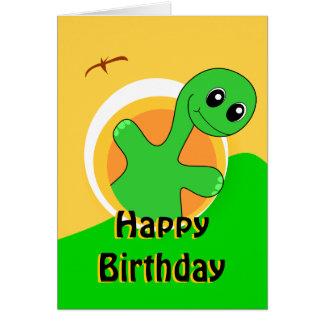 Cartão de aniversário do dinossauro
