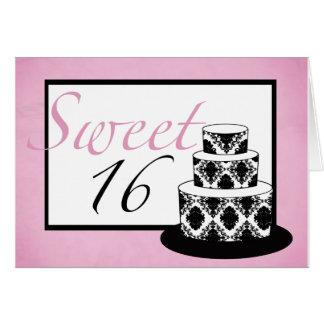 Cartão de aniversário do doce 16