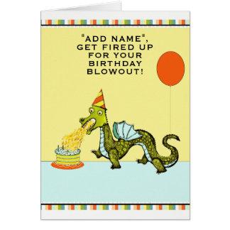 cartão de aniversário do dragão