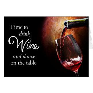 Cartão de aniversário do entusiasta do vinho do