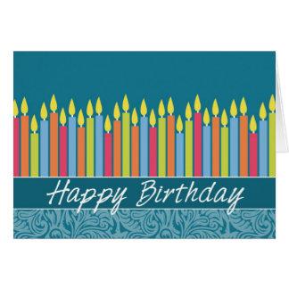 Cartão de aniversário do escritório com velas