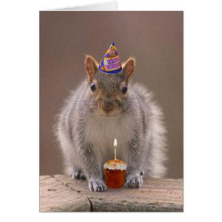 Cartão de aniversário do esquilo
