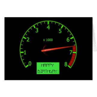 Cartão de aniversário do fã do carro de