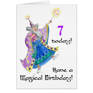 """Cartão de aniversário do """"feiticeiro"""" para uns"""