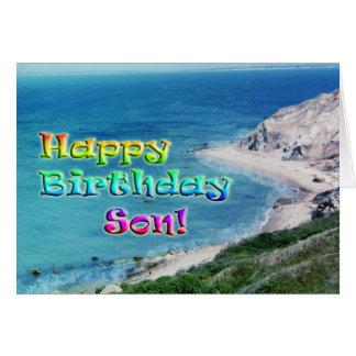 Cartão de aniversário do filho
