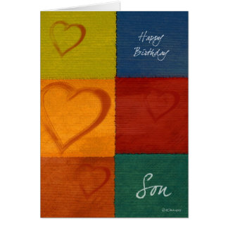 Cartão de aniversário do filho das cores e dos