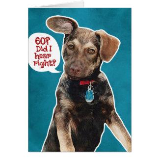 Cartão de aniversário do filhote de cachorro