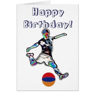 Cartão de aniversário do futebol do futebol de