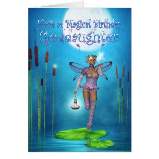Cartão de aniversário do Goddaughter com fada