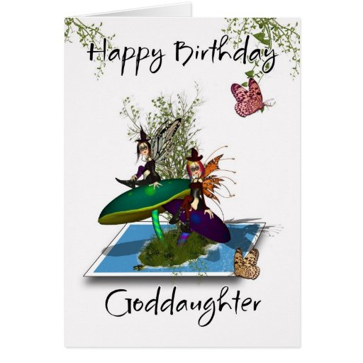 Cartão de aniversário do Goddaughter - Sp gótico b